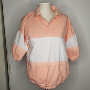 Vintage 1990's Oversized Peach and White Shirt